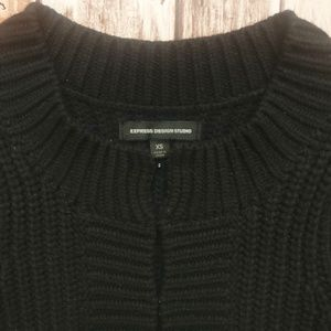 Express Sweaters - Express Design Studio Black Wool Blend Sweater